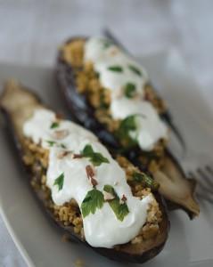 aubergineboulgour