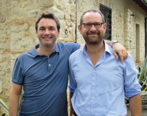 Valerio, à gauche, avec le directeur de la Fattoria Solidale