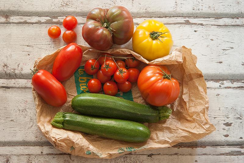 Cuisiner tomates et courgettes satoriz le bio pour tous - Cuisiner les tomates sechees ...