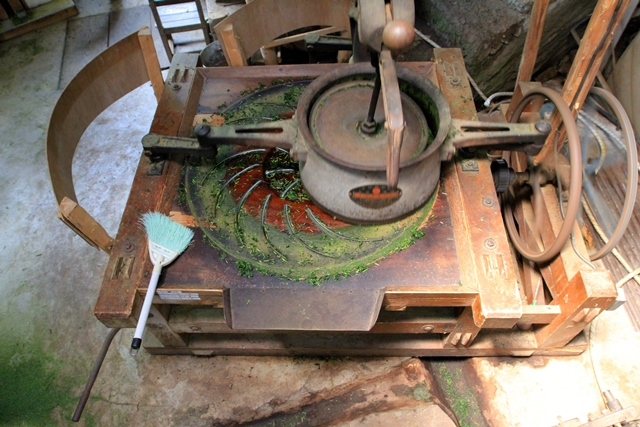 Roulage du thé vert au Rock Garden près d'Uji, image Jardins de Gaïa